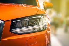 Zbliżenie przodu reflektoru samochód Fotografia Stock