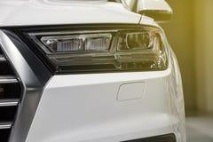 Zbliżenie przodu reflektoru samochód Obraz Stock