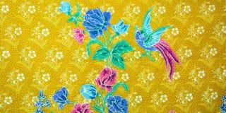 Zbliżenie retro makaty tkaniny wzór z klasycznym wizerunkiem Zdjęcia Royalty Free