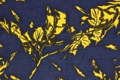 Zbliżenie retro tkanina wzór Fotografia Stock