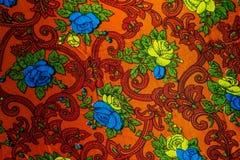 Zbliżenie retro tkanina wzór Zdjęcia Stock