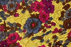 Zbliżenie retro tkanina wzór Obraz Stock