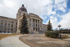 Zbliżenie Saskatchewan Prawodawczy budynek Obrazy Stock