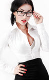 Zbliżenie seksowna biznesowa kobieta Obraz Royalty Free