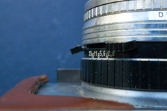 Zbliżenie stary retro kamera obiektyw Zdjęcia Royalty Free