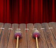 Zbliżenie Tajlandzki instrument muzyczny (Altowy ksylofon) Fotografia Stock