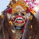 Zbliżenie tradycyjna balijczyka Barong maska w Indonezja Zdjęcie Royalty Free