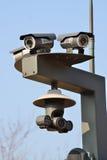 Zbliżenie trzy Infrared CCTV Obraz Royalty Free