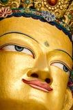 Zbliżenie twarz gigantyczna statua Maitreya Buddha Obrazy Royalty Free