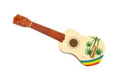 Zbliżenie ukulele model bez sznurka, Odosobnionego Zdjęcia Stock