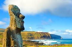 Zbliżenie Wielki Moai Obraz Stock