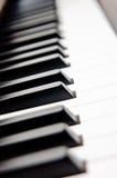 zbliżenie wpisuje pianino Obraz Stock