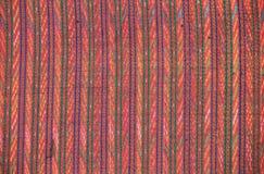 Zbliżenie wzór tajlandzka handmade tkanina Obrazy Royalty Free