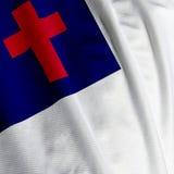 zbliżenie chrześcijańskiej flagę Fotografia Stock