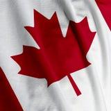 zbliżenie kanadyjskiej flagi Fotografia Royalty Free