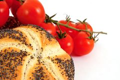 zboża świezi rolek pomidory Zdjęcie Royalty Free