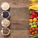 Zboża, legumes i warzywa, Zdjęcie Royalty Free