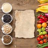 Zboża, legumes i warzywa, Fotografia Stock