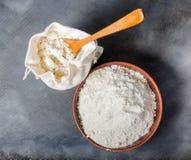 Zboże mąka w torbie zdjęcie royalty free