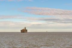 Zbożowa Basztowa bateria, Anglia, UK zdjęcia stock