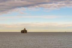 Zbożowa Basztowa bateria, wyspa adra, Kent, Anglia, UK zdjęcia stock