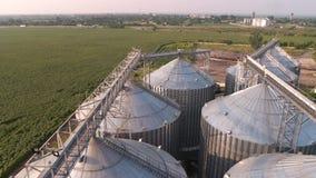 Zbożowa winda w rolniczej strefie zdjęcie wideo