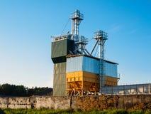 Zbożowej suszarki kompleks w Białoruś zdjęcia royalty free