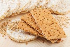 Zbożowy Crispbread krakers Obrazy Royalty Free