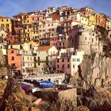 Zbocza miasteczko w Włochy Obraz Stock
