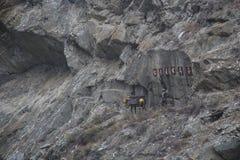 Zbocze góry śladu pomnik Chińscy Końscy handlowowie Obraz Royalty Free