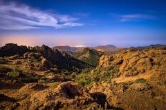 Zbocze góry krajobraz na Granu Canaria wyspie, Hiszpania Obrazy Royalty Free