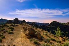 Zbocze góry krajobraz na Granu Canaria wyspie, Hiszpania Zdjęcie Stock