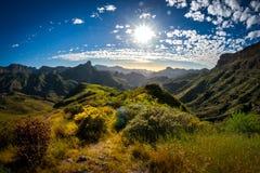 Zbocze góry krajobraz na Granu Canaria wyspie, Hiszpania Obrazy Stock