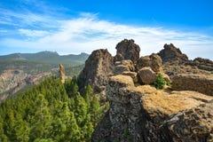 Zbocze góry krajobraz na Granu Canaria wyspie, Hiszpania Obraz Stock