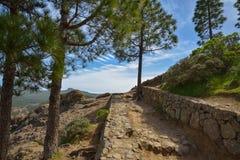Zbocze góry krajobraz na Granu Canaria wyspie, Hiszpania Obraz Royalty Free
