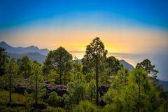 Zbocze góry krajobraz w Tamadaba naturalnym parku na Granu Canaria wyspie, Hiszpania Obrazy Stock