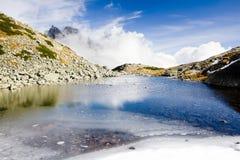 Zbojnicke Tarn, Vysoke Tatry & x28;High Tatras& x29;, Slovakia. Outdoor, outdoors, outside, exterior, exteriors, europe, eastern, republic, czechoslovakia stock image