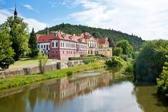 Zbraslav城堡和修道院全国文化地标, Zbraslav,布拉格,捷克 免版税图库摄影