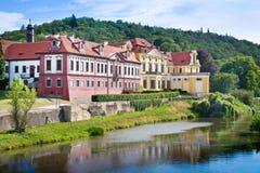 Zbraslav城堡和修道院全国文化地标, Zbraslav,布拉格,捷克 库存照片