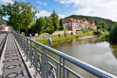 Zbraslav城堡和修道院全国文化地标, Zbraslav,布拉格,捷克 免版税库存照片
