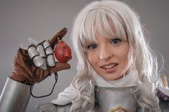 zbroi żeński rycerza jaśnienie Zdjęcie Royalty Free