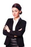 zbroi krzyżującego atrakcyjnego bizneswomanu Zdjęcie Royalty Free