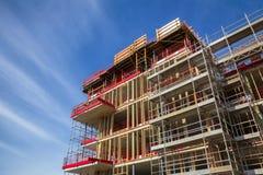 Zbrojona betonowa buildin budowa zdjęcie royalty free