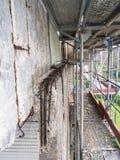 Zbrojona betonowa struktura marniejąca Obrazy Stock