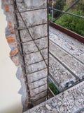 Zbrojona betonowa struktura marniejąca Obraz Stock