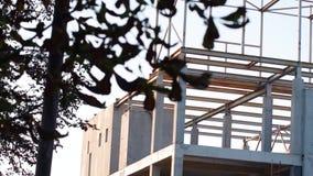 Zbrojone betonowe struktury na zaniechanym budynku centrum handlowe zdjęcie wideo