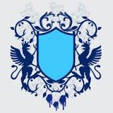 zbrojownia emblemata rocznik wektora ilustracja wektor