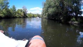 Zbruch river Podilski, Tovtry Khmelnytskyi Ukraine stock video footage