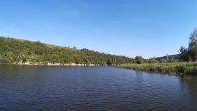 Zbruch river Podilski, Tovtry Khmelnytskyi Ukraine stock footage