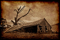 zbudować farmę starego zdjęcie stock